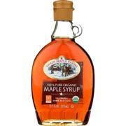 Shady Maple Farms Organic Dark Glass Maple Syrup, 12.7 Ounce -- 12 per case.