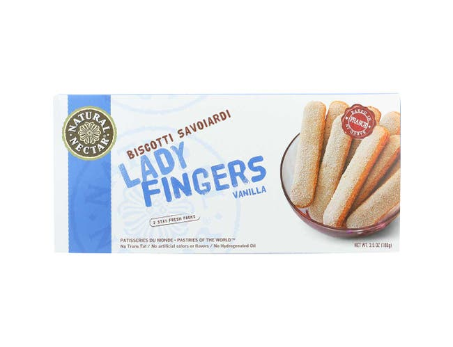 Natural Nectar Natural Lady Finger Biscotti Savoiardi, 3.5 Ounce -- 20 per case.
