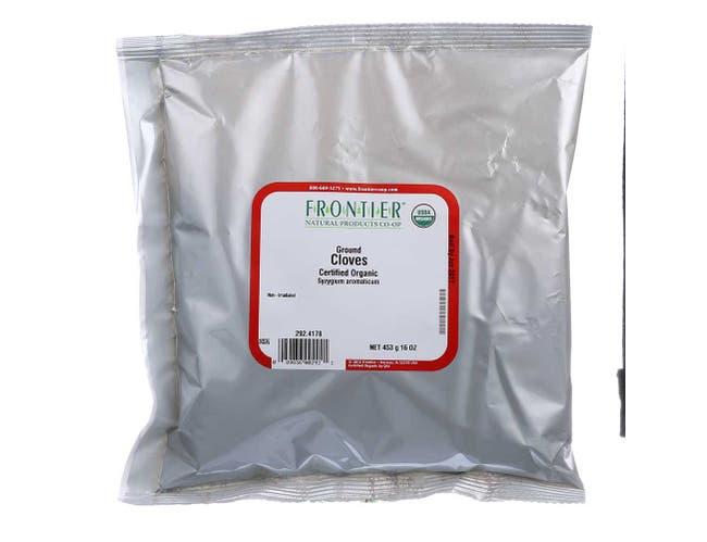 Frontier Herb Organic Bulk Ground Clove Powder, 16 Ounce -- 3 per case