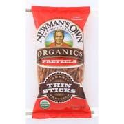 Newmans Own Organics Thin Stick Pretzel, 7 Ounce -- 12 per case.