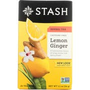 Stash Premium Lemon Ginger Herbal Tea - 20 per pack -- 6 packs per case.