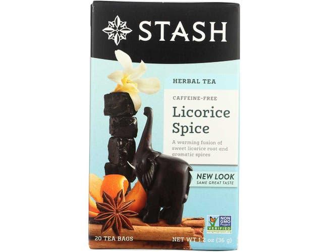 Stash Premium Licorice Spice Herbal Tea - 20 bags per pack -- 6 packs per case.