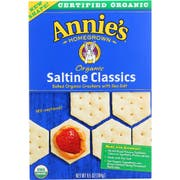Annies Homegrown Organic Classics Saltine Bunny Cracker, 6.5 Ounce -- 12 per case.