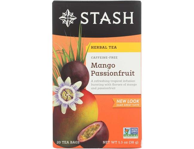 Stash Premium Mango Passionfruit Herbal Tea - 20 bags per pack -- 6 packs per case.