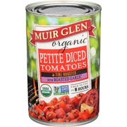 Muir Glen Organic Garlic Fire Roasted Diced Tomato, 14.5 Ounce -- 12 per case.