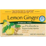 Lemon Ginger Herbal Tea Plus Probiotics, 18 per pack -- 6 packs per case
