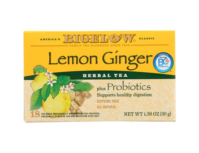 Bigelow Lemon Ginger Herb Plus Tea - 20 per pack -- 6 packs per case.