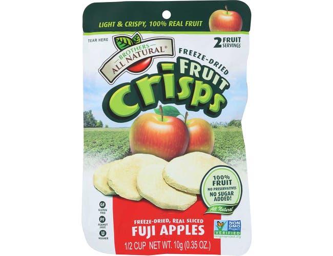 Brothers All Natural Fuji Apple Fruit Crisps, 0.35 Ounce -- 24 per case.
