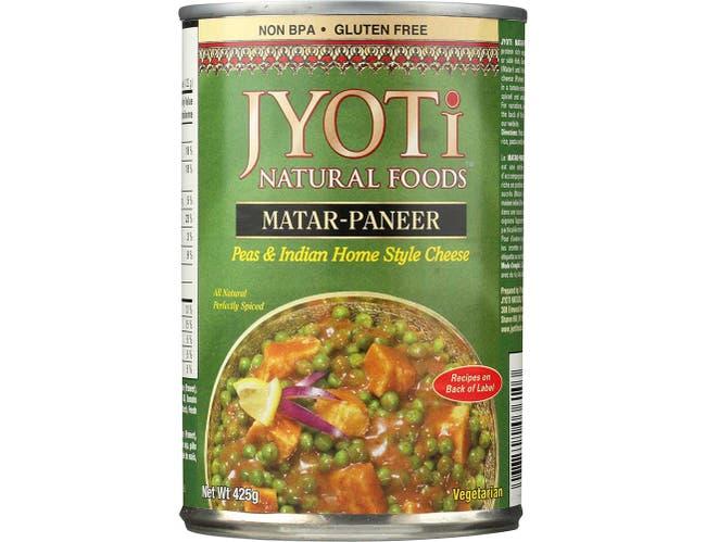 Matar-Paneer,PeasandCheese/Sauce - 15 ounce  -- 12 per case.