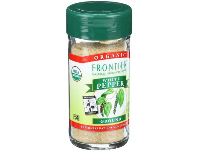Frontier Herb Fair Trade Certified Organic White Ground Pepper, 1.98 Ounce -- 6 per case.