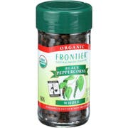 Frontier Herb Fair Trade Certified Organic Black Whole Peppercorn, 2.12 Ounce -- 6 per case.