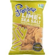 Frontera Foods Lime and Sea Salt Tortilla Chips, 10 Ounce -- 12 per case.