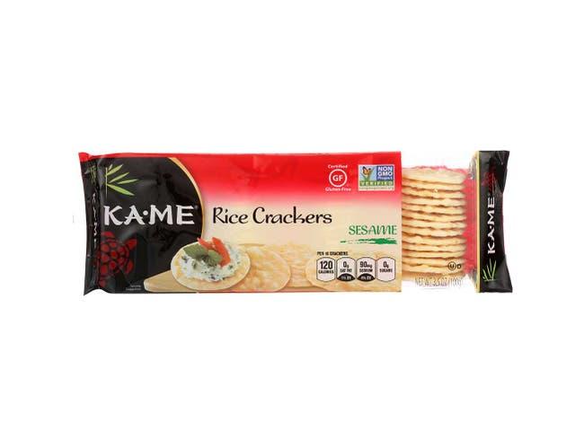 Kame Sesame Rice Crunch Cracker, 3.5 Ounce -- 12 per case.