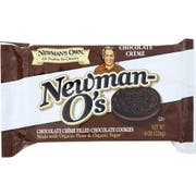 Newmans Os Organics Chocolate Creme Cookie, 8 Ounce -- 6 per case.