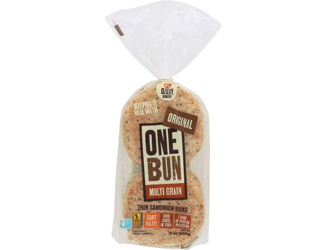 Ozery Bakery OneBun Multigrain Sandwich Pita Bread, 21 Ounce - 8 per pack -- 6 packs per case.