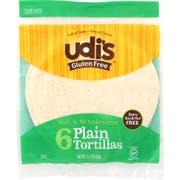 Udis Gluten Free Plain Tortilla, 9 inch - 6 per pack -- 10 packs per case.