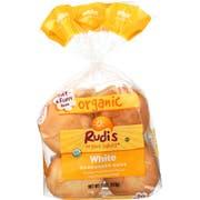 Rudis Organic White Hamburger Bun -- 7 pack per case.
