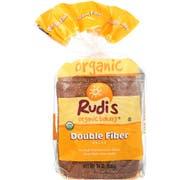 Rudis Organic Double Fiber Bread, 24 Ounce -- 8 per case.