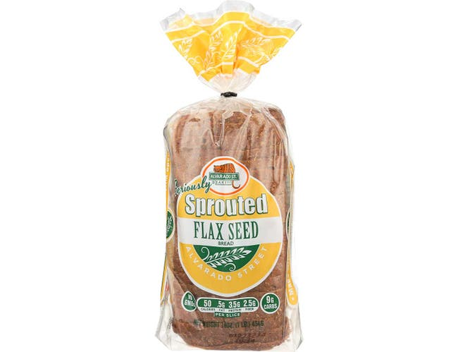 Alvarado Street Bakery Organic Essential Flax Seed Bread, 16 Ounce -- 6 per case.