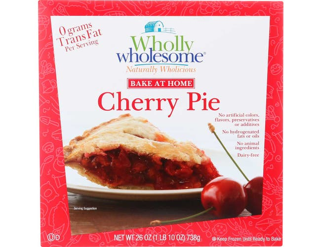 Wholly Wholesome Unbaked Cherry Pie, 8 inch -- 6 per case.