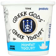 Greek Gods Non Fat Plain Greek Yogurt, 24 Ounce -- 6 per case.