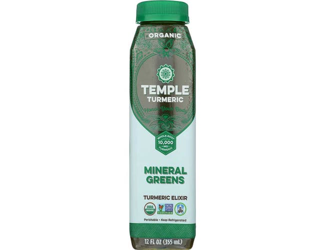 Temple Turmeric Organic Mineral Greens Elixir, 12 Ounce -- 6 per case.