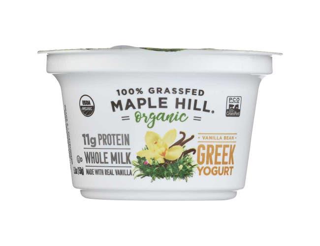 Maple Hill Creamery Organic Vanilla Greek Yogurt, 5.3 Ounce -- 6 per case.