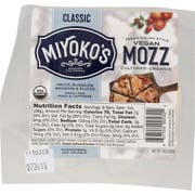 Miyokos Creamery Organic Vegan Mozzarella Nut Cheese, 8 Ounce -- 6 per case.