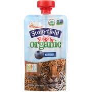 Stonyfield Organic Blueberry Yokid Yogurt, 3.5 Ounce -- 8 per case.