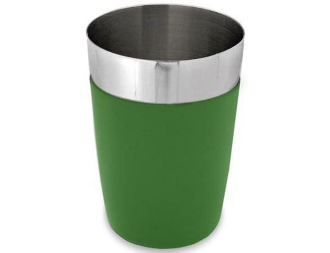 Co-Rect Stainless Steel with Green Vinyl Coating Cocktail Shaker, 16 Ounce -- 72 per case.