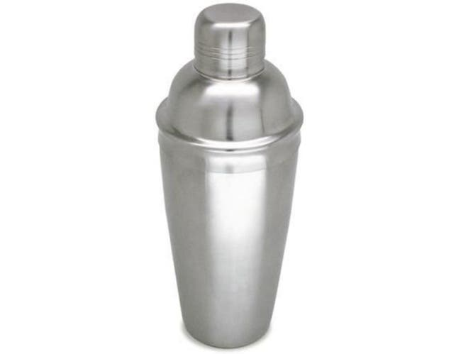 Co-Rect Brushed Stainless Steel Three Piece Cocktail Shaker, 24 Ounce -- 48 per case.