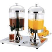 Focus Foodservice Double Cold Beverage Dispenser, 8.5 Quart -- 1 each.