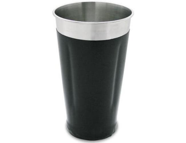 Co-Rect Stainless Steel with Black Vinyl Coating Malt Cup, 6.875 x 4 x 4 inch -- 48 per case.