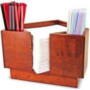 Co-Rect Triangular Blond Wood Bar Caddy, 8.75 x 7.25 x 5.75 inch -- 12 per case.