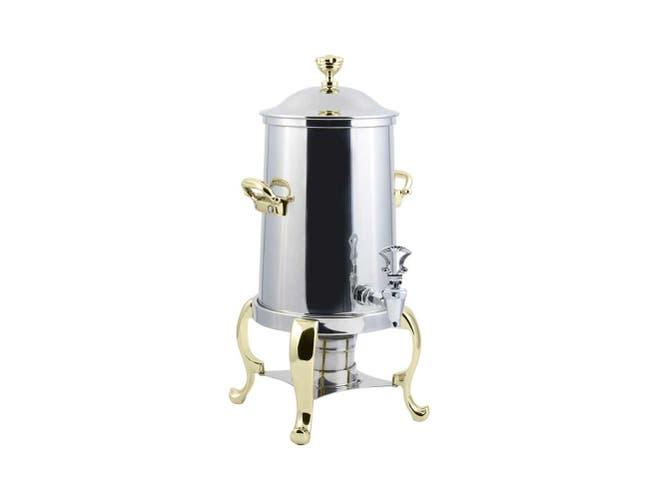 Chrome Trim Bon Chef Roman Non Insulated Coffee Urn, 5 1/2 Gallon Capacity -- 1 each.