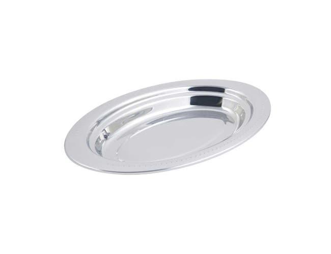 Bon Chef Stainless Steel Bolero Design Full Size Oval Food Pan, 19 x 11 13/16 x 2 inch -- 1 each.
