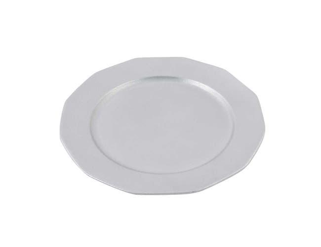 Black Bon Chef Sandstone Round Prism Tray, 15 inch Diameter -- 1 each.