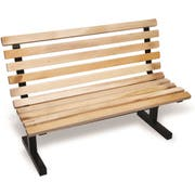 John Boos Maple Park Bench with Back, 60 inch -- 1 each.