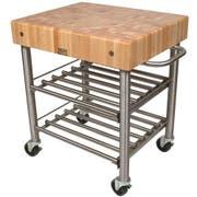 John Boos Cucina D Amico Maple Wine Cart, 30 x 24 x 5 inch -- 1 each.