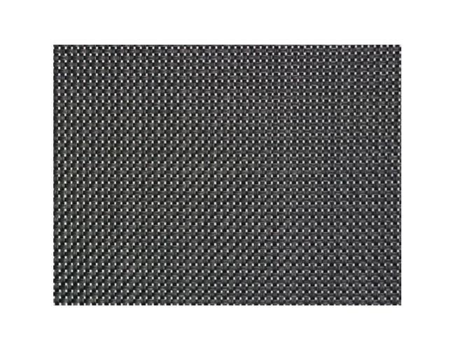 Paderno World Cuisine Plastic Black Placemat Set, 16.5 x 13 x 0.125 inch -- 1 set.
