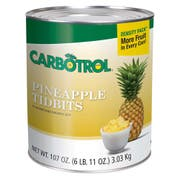 Carbotrol Pineapple Tidbits 6 Case 10 Can