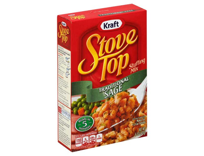 Stove Top Traditional Sage Stuffing, 6 Ounce --12 Case