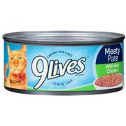 9 Lives Chicken Dinner Ground Entree Cat Food, 5.5 Ounce -- 24 per case.