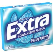 Wrigley Single Serve Peppermint Extra Gum - 15 Piece, 10 per pack -- 12 packs per case.