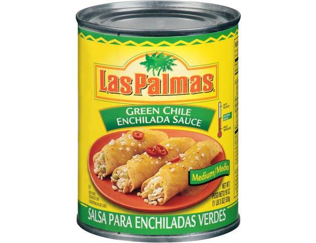 B and G Las Palmas Medium Green Chile Enchilada Sauce, 19 Ounce -- 12 per case.
