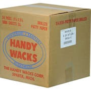 Handy Wacks Tow Hole Drilled Patty Paper, 1000 Sheets per pack -- 24 per case.