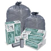 Pitt Plastics Linear Low Gray Star Perforated Roll Can Liner, 23 Gallon -- 100 per case.