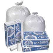 Pitt Plastics White Star 40-45 Gallon Extra Heavy Can Liner -- 100 per case.
