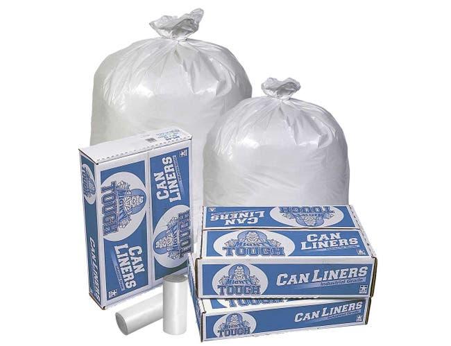 Pitt Plastics White Star 40-45 Gallon Extra Heavy Can Liner -- 100 per case.