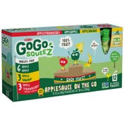 GoGo SqueeZ Variety Pack On the Go Apple Sauce, 3.2 Ounce -- 72 per case.